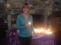 karen at the altar Oct. 2014 Fall retreat