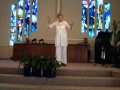 Rev. Karen on Pulpit